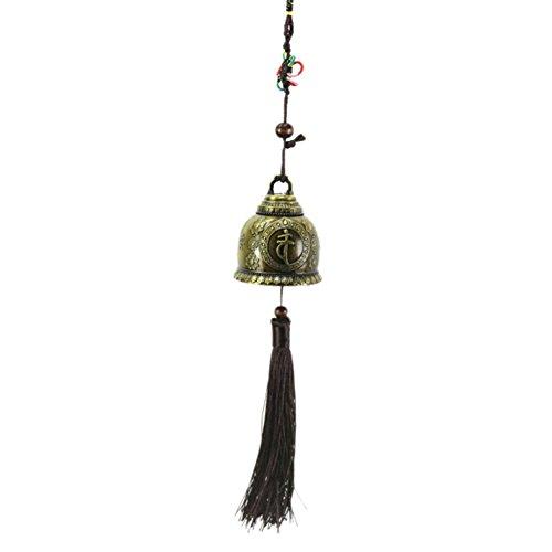 Windchime pour extérieur, Chanceux Feng Shui Suspendus Bronze Cloches avec Décor d'animaux, Cadeaux de Famille Carillon éolien pour Voiture, Jardin, Patio, Décor de Balcon (Motif de Bouddha)