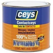 Cola de contacto 1/2 l. - medio litro contactceys para uniones flexibles y duraderas - Bote de 500 ml. De cola de impacto uso general - Garantía ceys
