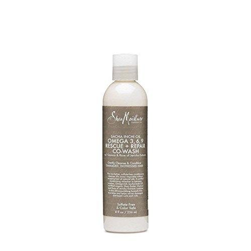SHEA MOISTURE - Sacha Inchi Oil - Après-shampooing Nettoyant - Adoucit et Ravive les boucles - Nettoie en douceur - Hydrate et nourrit - Naturel - 236 ml