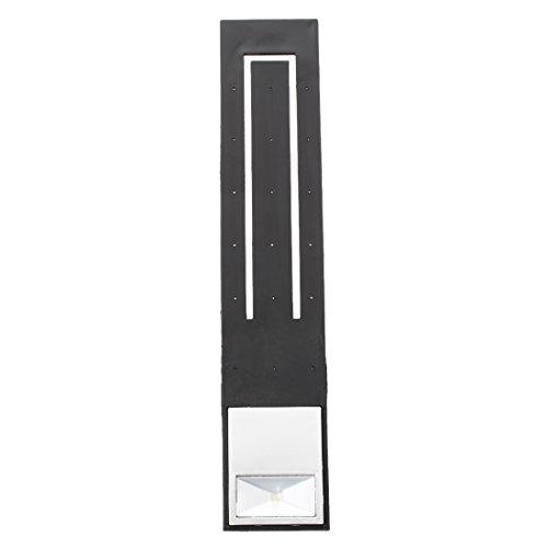 SODIAL(R) Ein zusammenklappbares Lesezeichen LED Leselampe, weisses Licht, mit Knoten 2 Batterien CR2032 schwarz 2 Weiße Leds Batterien