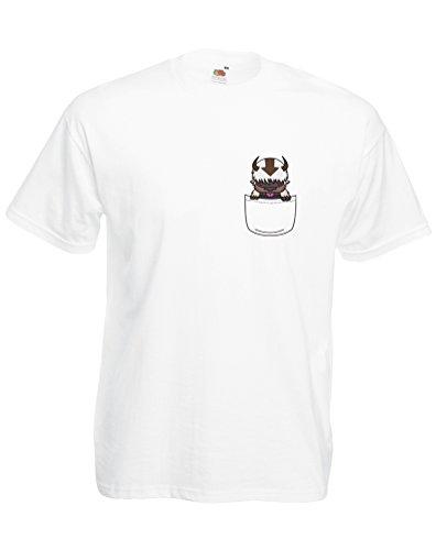 Appa Pocket, Mann Gedruckt T-Shirt - Weiß/Transfer L = 104-109 cm