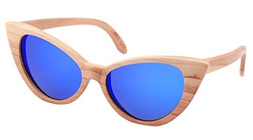 Insun Herren Sonnenbrille Gr. Einheitsgröße, Mehrfarbig - MC4 Wood Frame