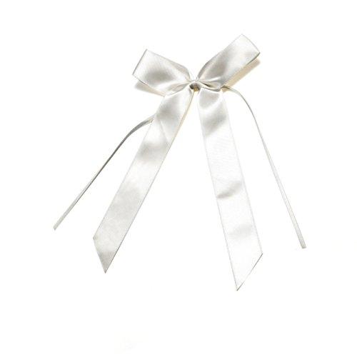 floristikvergleich.de 20 weiß Schleifen, Antennenschleifen, Autoschleifen, Deko Schleifen, Deko Hochzeit Party, Autoschmuck