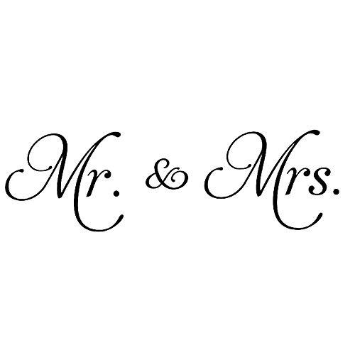 Newin Star Mr. & Mrs. Wandtattoo aus Selbstklebender Vinylfolie, für Schlafzimmer/Wohnzimmer, Kinderzimmer