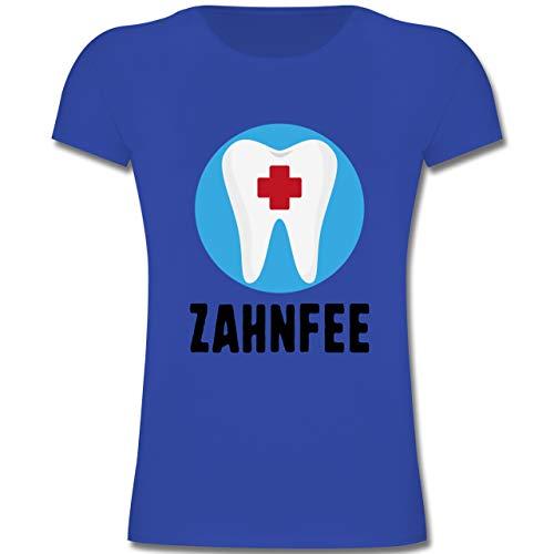 Karneval & Fasching Kinder - Zahnfee Zahn mit Kreuz - 128 (7-8 Jahre) - Royalblau - F131K - Mädchen Kinder ()
