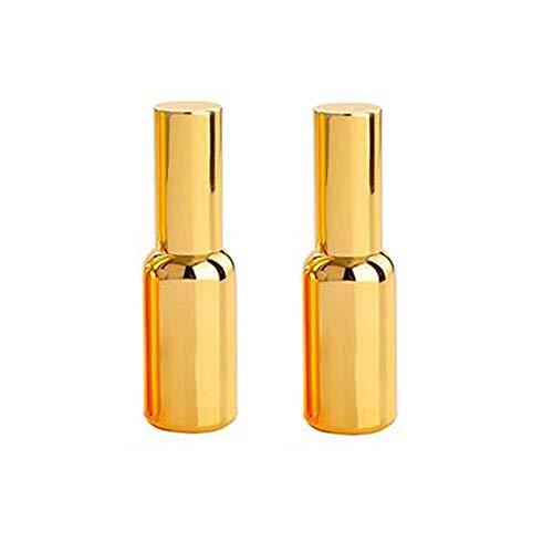 2 STÜCKE 30 ML 1,7 UNZE Leere Nachfüllbar Vergoldet Feinnebel Sprayer Flasche Parfüm Ätherisches Öl Aromatherapie Verpackung Glas Phiolenhalter Kosmetikbehälter - Gold-1.7 Ounce Spray