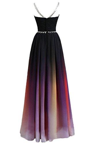 Gorgeous Bride Elegant Lang Traegerlos Empire Chiffon Abendkleider Festkleid Ballkleid Mehrfarbig X