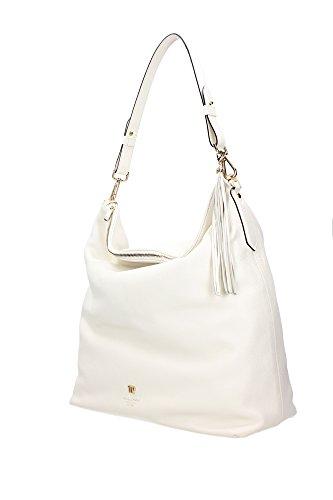 P6Z380500101 Via Delle Perle Sac à bandoulière Femme Cuir Blanc Blanc
