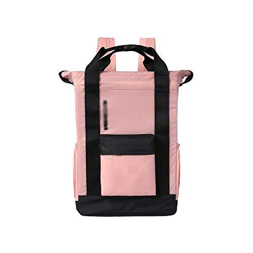 XiAnGuoJiGangWuQvChengBeiBaiHuoDian1 XUEYAQI- Bergsteigen, leinwand, Camping, wasserdicht, Outdoor Reisetasche, herrentasche (35 cm * 24 cm * 18 cm *) (Color : Pink) -