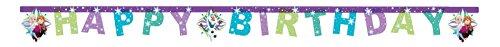 Girlande Happy Birthday, Frozen Snowflakes, mehrfarbig, PR86861 (Happy Birthday Frozen)