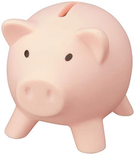 noTrash2003 Hucha con Forma de Cerdo para Ahorrar Dinero, decoración Cerdito Piggy Miss Verch. Colores:, Rosa Claro, 9,5 x 7,3 x 7,3 cm