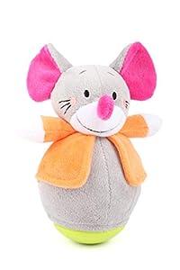 11422 Roly Poly Ratón, Small Foot, ratón de Felpa Suave, Figura de pie para agarrar y Sentir.