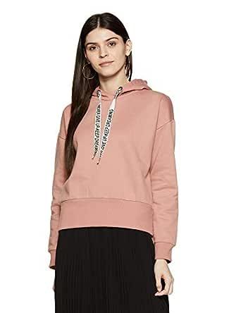 Amazon Brand - Symbol Women's Sweatshirt (AW18WNSSW14B_Dusky Pink_Medium)