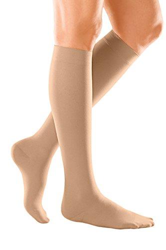 DUOMED Soft 522/3Klasse 2Close Fuß unten Knie Kompressionsstrümpfe, Größe M, beige (Geschlossen-toe Strümpfe)