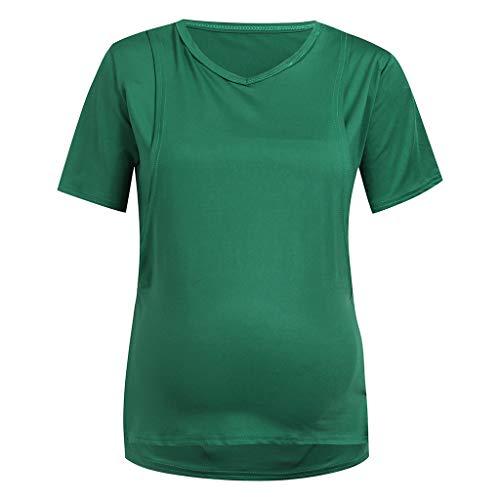 Sunnyadrain Schwangeren Stillen Top Ärmellose Oberteile für Frauen Stripe Splicing Nursing Baby Weste Kleidung