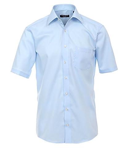 Casa Moda - Comfort Fit - Bügelfreies Herren Business kurzarm Hemd verschiedene Farben (008070), Kragenweite:45;Farbe:Blau