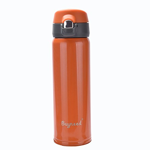 Isolierter Edelstahl-Vakuum-Thermoskanne Best Travel Coffee Mug 450 ml, doppelwandig, auslaufsichere Getränkeflasche 454 g Orange -