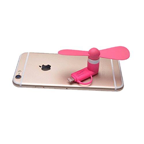 2 en 1 Ventilateur Portable légerµ USB Mini Ventilator Rotatif Ventilo Fan Cooling pour Apple iPhone 6 6s Plus iPhone 5 5s 5c iPad Air iPad Mini iPod et Androïde Téléphone Phone Ordinateur