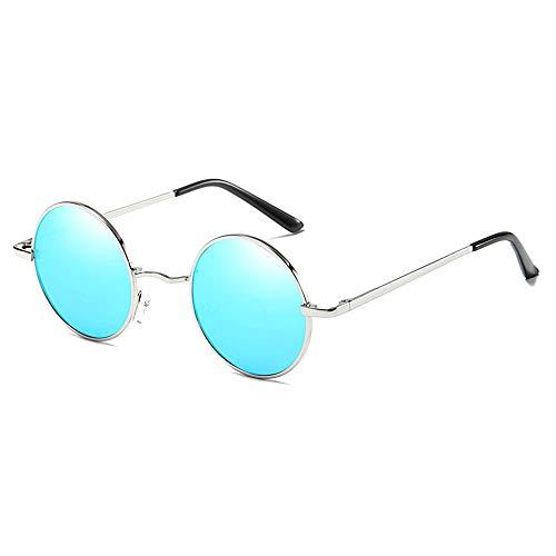 @Y.T Polarisierte Sonnenbrille Mode Sonnenbrille uv Sonnenbrille runde Brille,C
