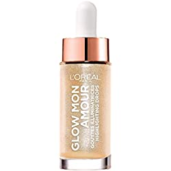 L'Oréal Paris Glow Mon Amour Highlighting Drops in Nr. 01 Sparkling Love, flüssiger Highlighter, verleiht dem Teint einen frischen Glow