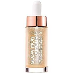 L'Oréal Paris Glow Mon Amour Highlighting Drops in Nr. 01 Sparkling Love, flüssiger Highlighter, verleiht dem Teint einen frischen Glow