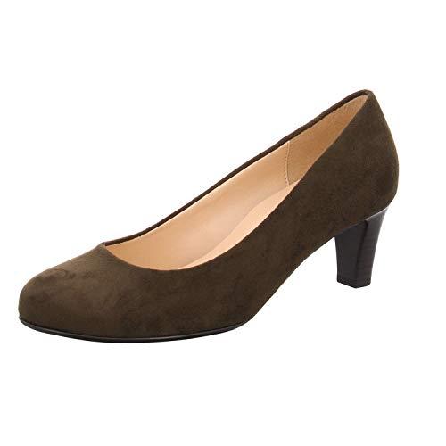 Gabor 95-300 Schuhe Damen Microvelour Pumps Weite F, Schuhgröße:39, Farbe:Grün