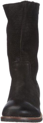 Buffalo London - 13030 Buff Nubuk Milled, Stivali Donna Nero (Schwarz/BLACK 01)