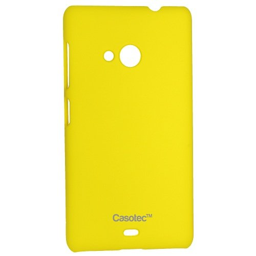 Casotec Ultra Slim Hard Shell Back Case Cover for Microsoft Lumia 535 - Yellow  available at amazon for Rs.149
