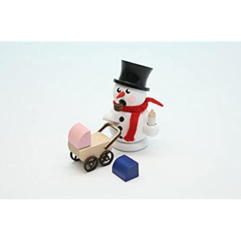Incense las montañas del mineral de la Navidad de Seiffen los 8cm del bebé del cochecito de niño del bebé del muñeco de nieve del hombre NUEVAS