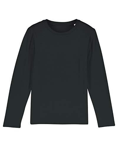 Maratus Jungen | Mädchen Bio Langarmshirt Kinder Sweatshirt 134-146 / schwarz