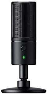 Razer Seiren X - PC Gaming Microfono a Condensatore per Streaming, Resistente Agli Urti, Porta di Monitoraggio