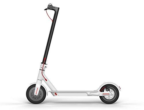 Xiaomi Scooter - Patinete eléctrico plegable, 30 Km alcance, 25km/h, blanco