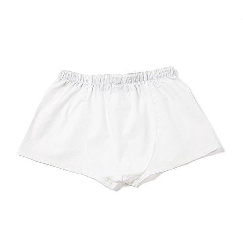 YUASA Men's Short-Cut Cotton Woven Boxer Underwear Shorts Herren American Boxershorts Natural