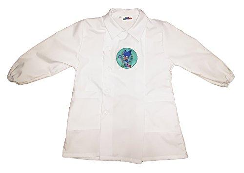 Pj masks grembiule scuola bimbo con bottoni gattoboy nuona collezione bianco art. g037 (55)