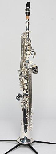 Original SYMPHONIE WESTERWALD DESIGN Sopransaxophon/Sopran Saxophon, echt versilbert, inkl. Luxus-Hartschalenkoffer und Zubehör, Neu