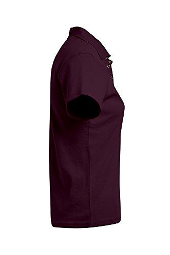 Polo femme en jersey Bourgogne