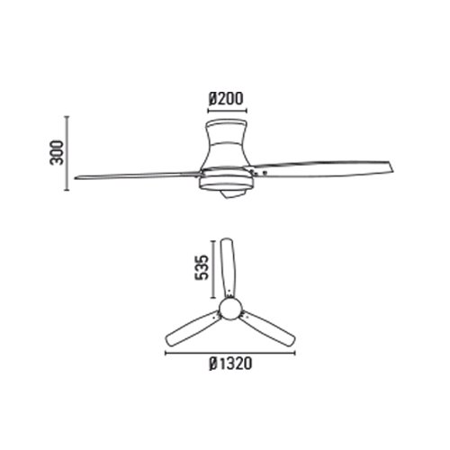 31DLh5DnEaL. SS500  - Projector Barcelona Tonsay 33384Ceiling Fan with Light, 15W Motor, Wings: Wood and Steel/White Opal Glass Maple Polycarbonate White