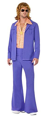 Smiffy's - 70er Jahre Disco Kostüm Disko Anzug für Herren Schlaghose Gr. M-L (Kostüme 70's Disco)