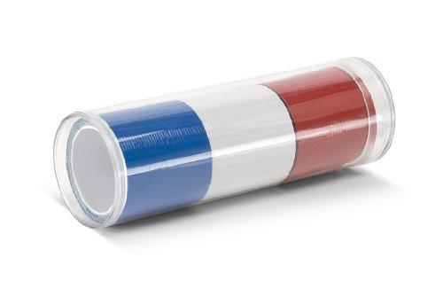 TapeCase Polypropylen/Gummi-Klebstoff, Rally Rolls Klebeband (verschiedene Größen), rot/weiß / blau, 1 - Rot Weiß Gummi
