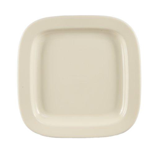 CAC China Quadratischer Teller aus Steingut, 28 cm, amerikanisches Weiß, 12 Stück - China Teller, Quadratische Weiße