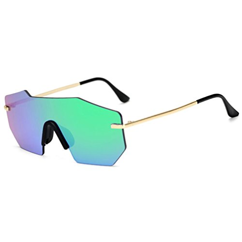 ille, Frauen Männer Sommer Vintage Retro Cat Eye Brille Unisex Mode Flieger spiegellinse Reisen Sonnenbrille multicolor Mode Brille (grün) (Schwarze Und Weiße Vintage Cat Eye Brille)