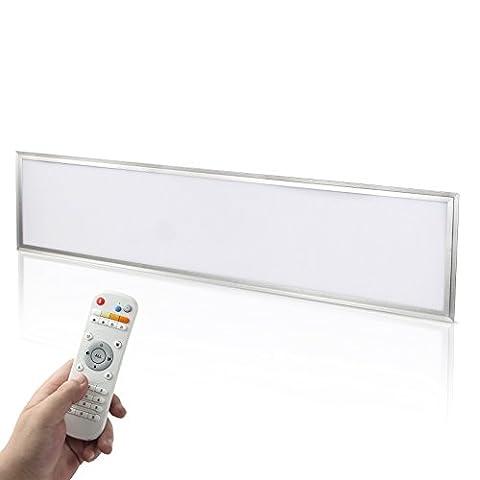 Yorbay LED Panel Set 120x30cm 40W Farbtemperatur einstellbar(3000K-6000K) dimmbar Deckenleuchte Pendelleuchte mit Fernbedienung, Befestigungsmaterial und LED