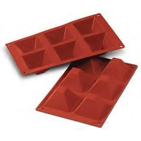 FaisTonGateau-Molde flexible para 6 pirámides, 6 huecos de pirámide