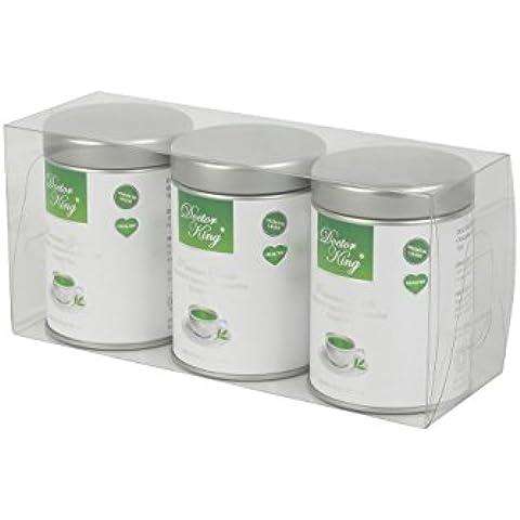 Paquete de 3 de Médico Rey (Doctor King®) orgánico japonés matcha té verde | Grado premium (grado ceremonial) | Peso neto 30 g x