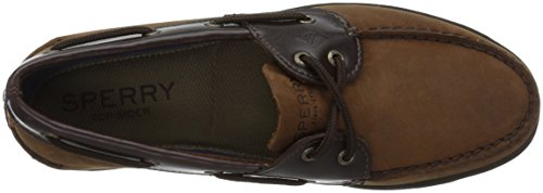 Sperry Top-Sider Mens Leeward Chambray Boat Shoe Brown