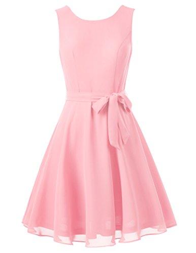 (1950er retro vintage festliches kleid chiffon damen kleider sommerkleid festlich XL KK625-3)
