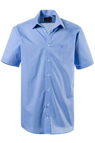 JP 1880 Herren große Größen bis 8XL, Kurzarm Businesshemd aus Reiner Baumwolle, mit Brusttasche, Variokragen & Comfort Fit blau 4XL 705178 71-4XL (Care-kurzarm-shirt Easy)