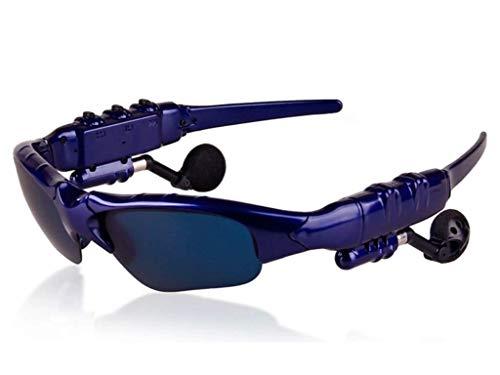 AILI Bluetooth Sonnenbrille Mit Eingebautem Kabellosem Kopfhörer Stereo Ohrhörer Mit Hände Frei Musik MP3 Player Telefon Anruf,Blue