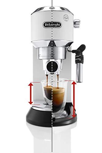 De\'Longhi  Dedica EC 685.W Espresso Siebträgermaschine | 15 bar | Professionelle Milchschaum Düse| Füllmenge 1 l | Vollmetallgehäuse | Auch für Pads geeignet | Weiß