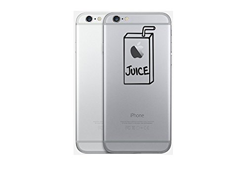 Preisvergleich Produktbild Macbook pro Air Iphone Apple Juice Apfelsaft Sticker Aufkleber Decal (Iphone Sticker Juice, Schwarz)